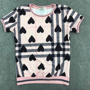 Burberry Pink & black Patterned shirt